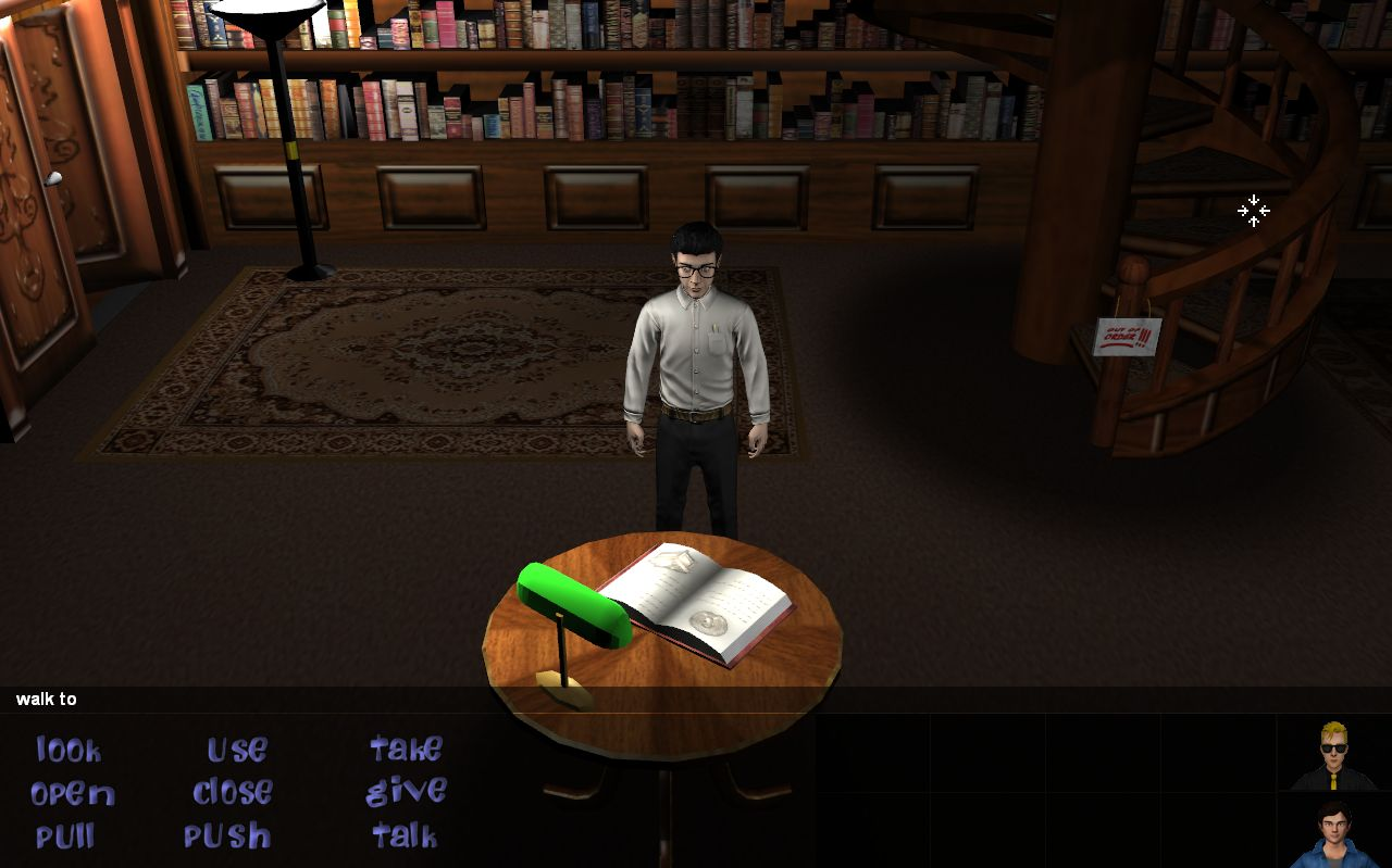 Bernard in library
